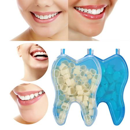 Yosoo 50pcs Dental Temporary Crown Veneers for Anterior Front Back Molar Teeth Whitening (Putty For Teeth)