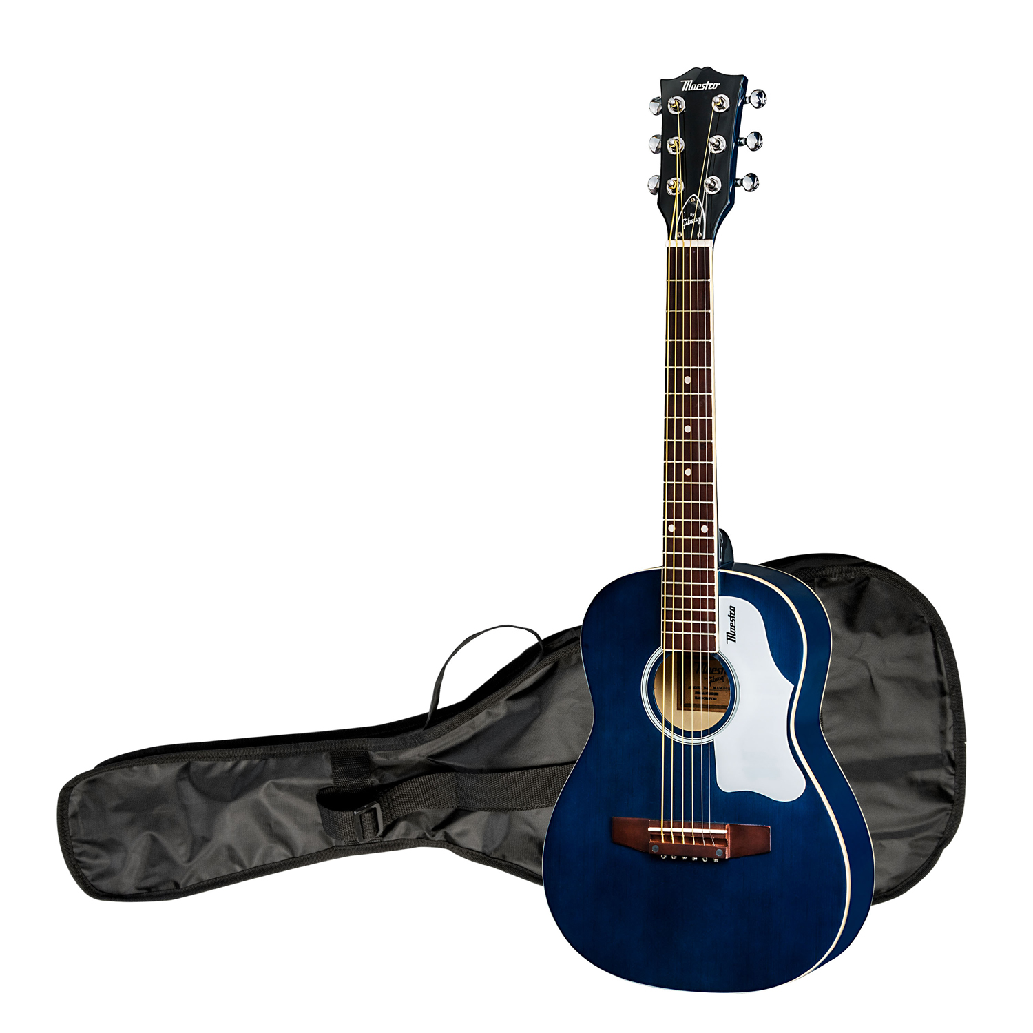 "The Maestro by Gibson 30"" Mini Acoustic Guitar with Case, Blue"