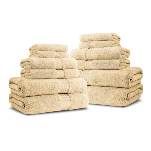 Luxor Linens Bliss Egyptian Quality Cotton Luxury 12 Piece Towel Set
