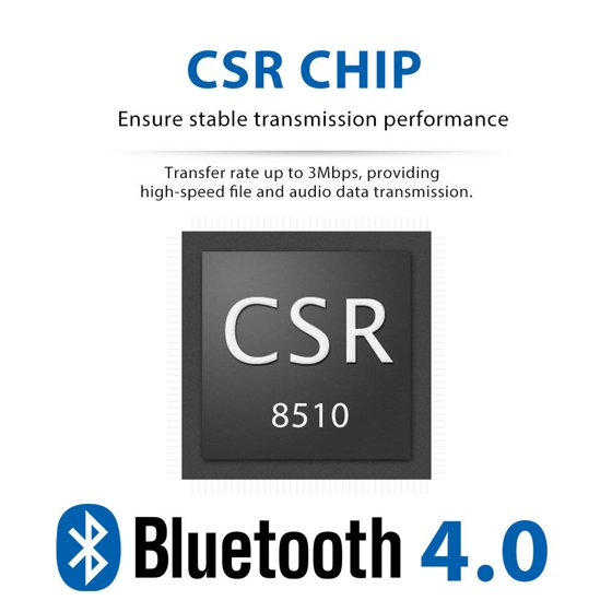 Bluetooth USB Adapter CSR 4.0 USB Dongle Bluetooth Receiver Transfer Wireless Adapter for Laptop PC Support Windows 10/8/7/Vista/XP,Mouse and Keyboard ...