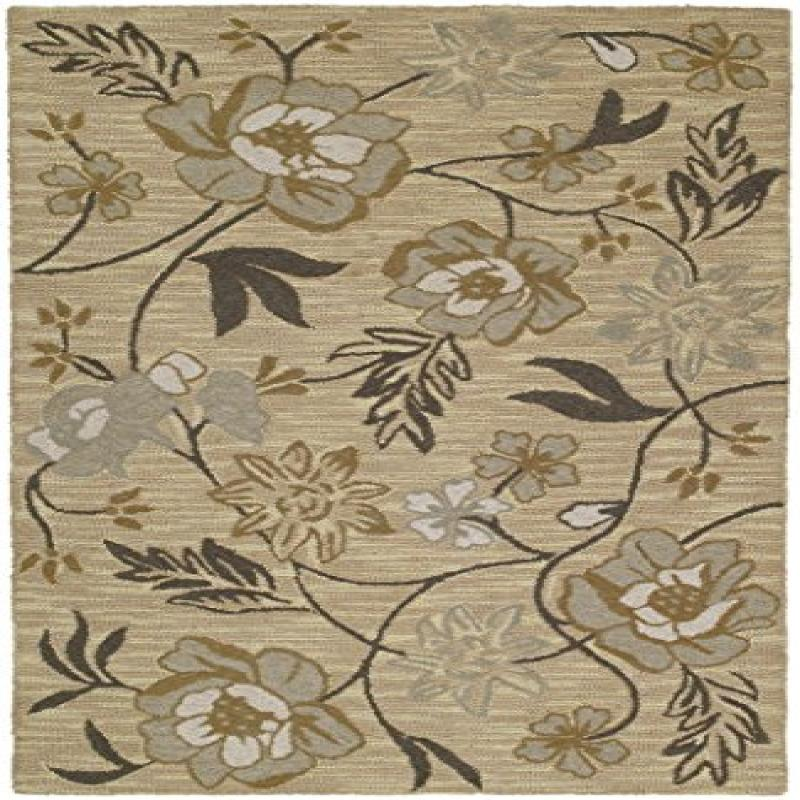 Khazana Collection Hand Tufted Gold Rug (2' x 3')
