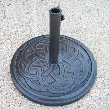 Portable Concrete Stand (Oakland Living Woven Circles Cast Concrete Multiuse Umbrella Stand - Antique)