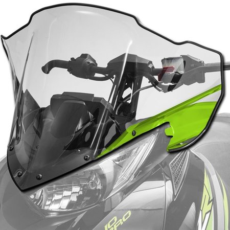 Arctic Cat New OEM Mid Clear Tinted Windshield, Medium Green ZR XF M, 8639-077