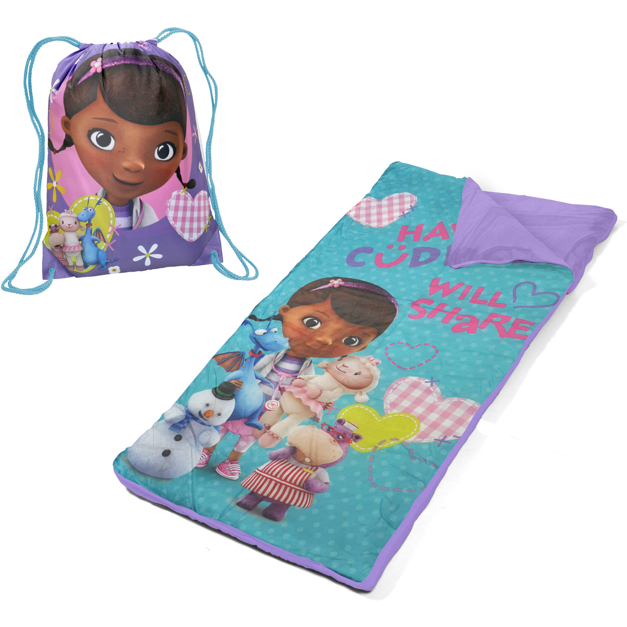 Disney Princess Slumber Set/Nap Mat with BONUS Sling Bag - Walmart.com