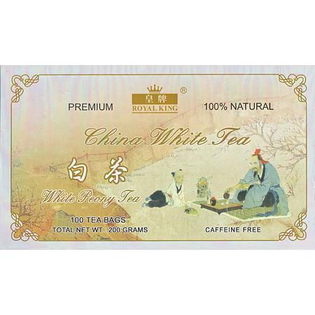 Royal King White Peony Chinese White Tea (100 Bags)