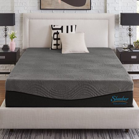 Slumber Solutions  Active 12-inch California King-size Charcoal Memory Foam Mattress