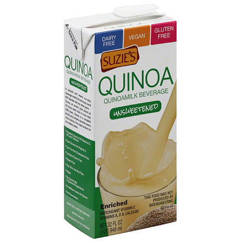 ***Discontinued by kehe 8_19***Suzie's Quinoa Unsweetened Quinoamilk Beverage, 32 fl oz, (Pack of 12)