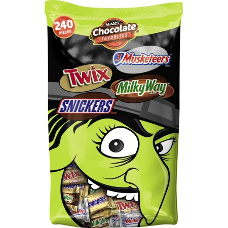 Mars Mini Halloween Assorted Variety Candy Pack, 67.2 Oz., 240 Count