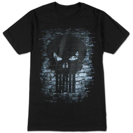 Punisher- Bricks Logo Apparel T-Shirt - Black (Punisher Shirt)
