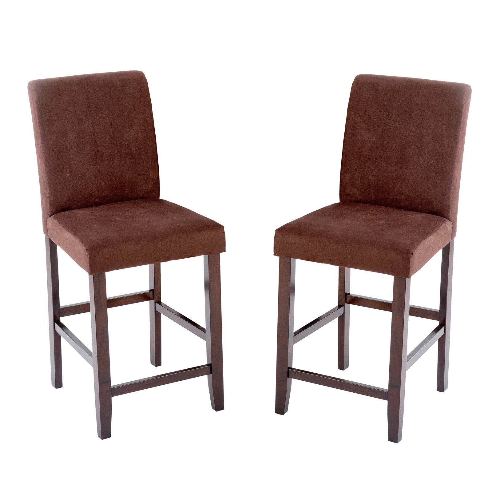 Imagio Home Loft Counter Stools 24 Quot Set Of 2 Brown