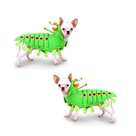Dog Costume Green CATERPILLAR Insect Dress Your Dogs Like a Bug(Size 0)