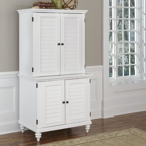 Home Styles Bermuda Armoire Desk With Compact And Hutch