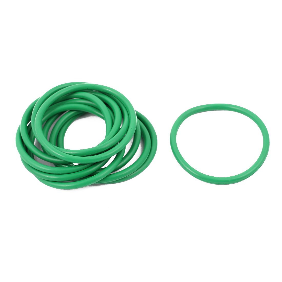 10pcs 1.9mm Thick Heat Resistant  Green O-Ring Rubber Sealing Ring 27mm OD