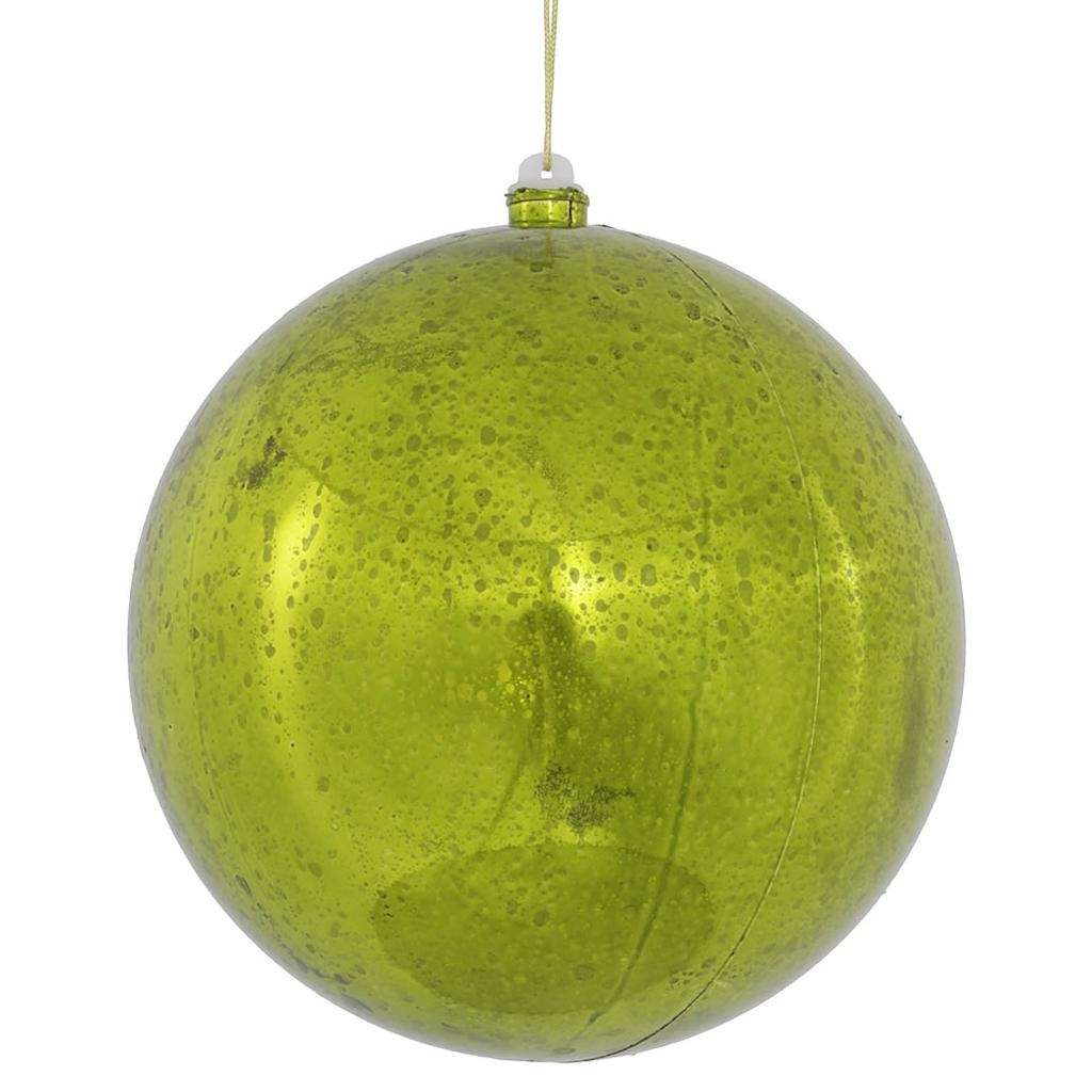 """Vickerman 465103 - 8"""" Lime Shiny Mercury Ball Christmas Tree Ornament (M166673)"""