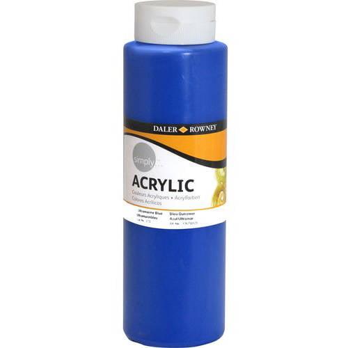 Simply Acrylic 750ml Paint, Blue