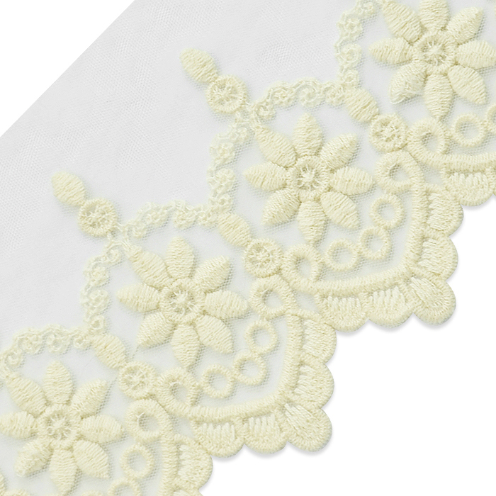 "Expo Int'l 2 yards of Lenore 3 1/2"" Vintage Daisy and Scroll Lace Trim"