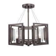Golden Lighting  6068-SF  Ceiling Fixtures  Marco  Indoor Lighting  Semi-Flush  ;Gunmetal Bronze
