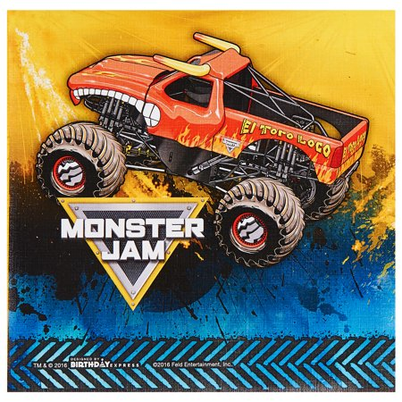 Monster Jam Party Supplies 60 Pack Lunch Napkins