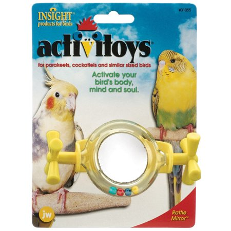 JW Pet Company Activitoy Rattle Mirror Small Bird Toy Colors Vary
