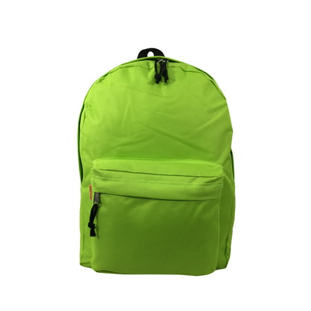 K-Cliffs - Backpack Classic School Bag Basic Daypack Simple Book Bag 16 Inch  F. Green - Walmart.com c00cf40bd98a2