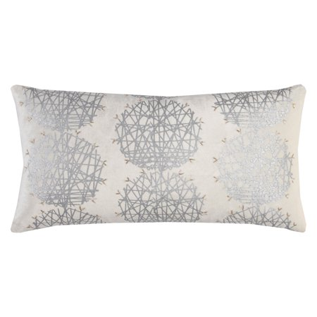 Medallion 2.5 Inch Silver Medallion - Rizzy Home Decorative Poly Filled Throw Pillow Medallion 11