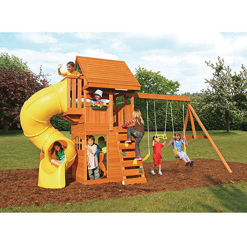 Cedar Summit Grandview Deluxe Cedar Wooden Swing Set