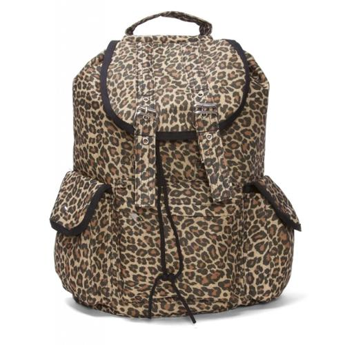 Hipster Rucksack Style Backpack - Fierce Cheetah Animal Print Style