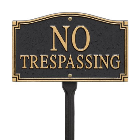 Whitehall No Trespassing Statement Wall/Lawn -