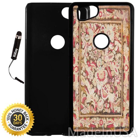 Custom Google Pixel 2 Case (Antique Aubusson French Art) Plastic Black Cover Ultra Slim   Lightweight   Includes Stylus Pen by (French Aubusson Light)