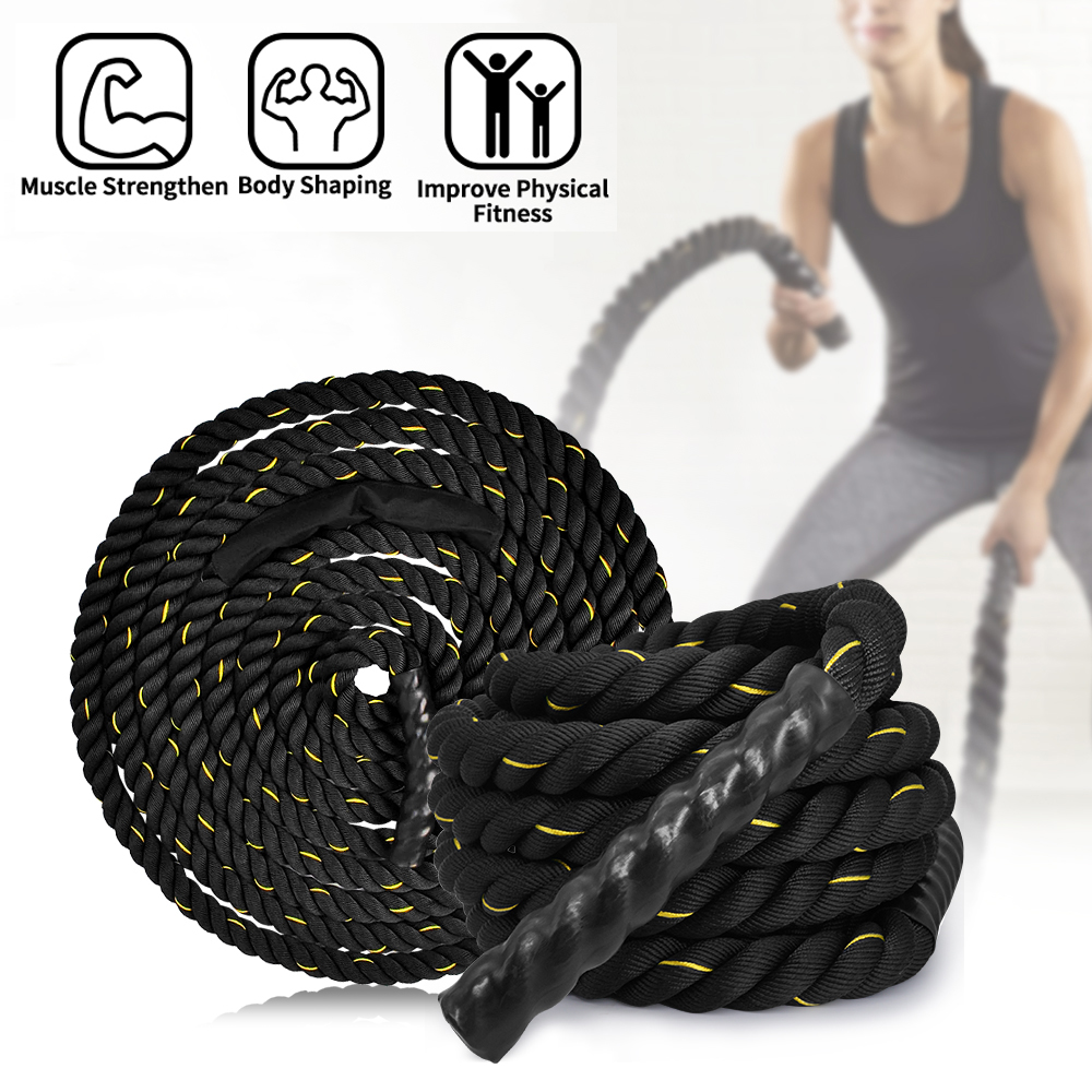 Mount Fit Battle Ropes Heavy Power Fitness Rope Sport Crossfit Outdoor Workout