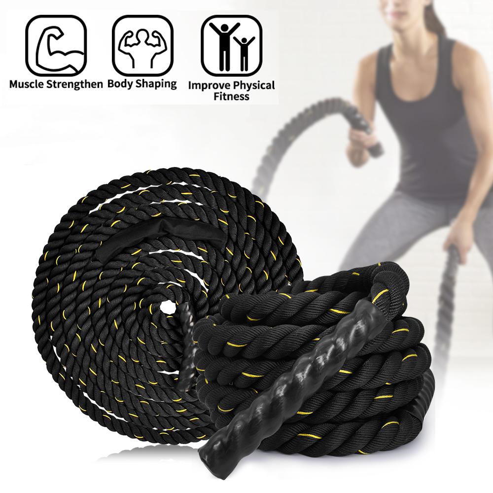 30ft//40ft//50ft Battle Rope Exercise Workout Strength Training Undulation Ropes