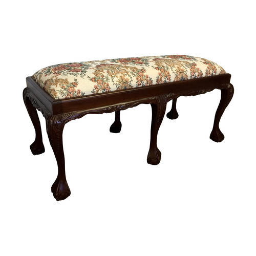 D-Art Collection Chippendale Wood Bench