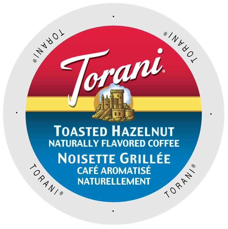 Torani Coffee Toasted Hazelnut, Single Serve Cup Portion Pack for Keurig K-Cup Brewers, 24 Count