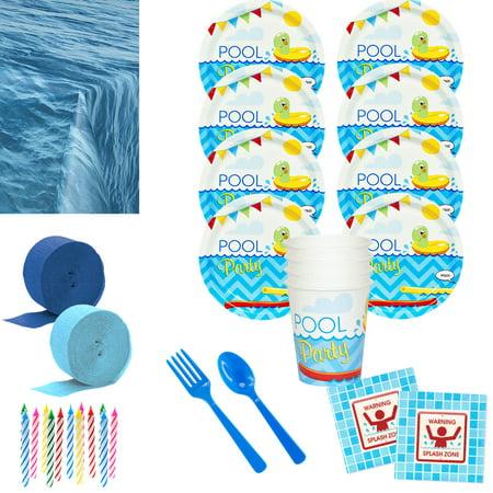 Pool Party Deluxe Tableware Kit (Serves 8)