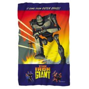 Iron Giant It Came From Space Fleece Blanket White 48X80