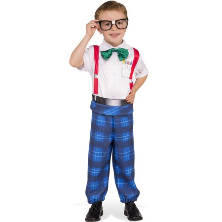 Boys Halloween Costume (Nerd Boy Genius Geeky Child School Uniform Halloween)