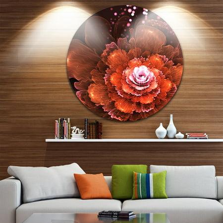 design art designart 39 fractal orange flower 39 floral. Black Bedroom Furniture Sets. Home Design Ideas