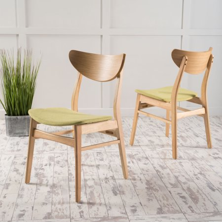 Fabulous Noble House Ava Green Tea Fabric Dining Chairs Set Of 2 Ibusinesslaw Wood Chair Design Ideas Ibusinesslaworg