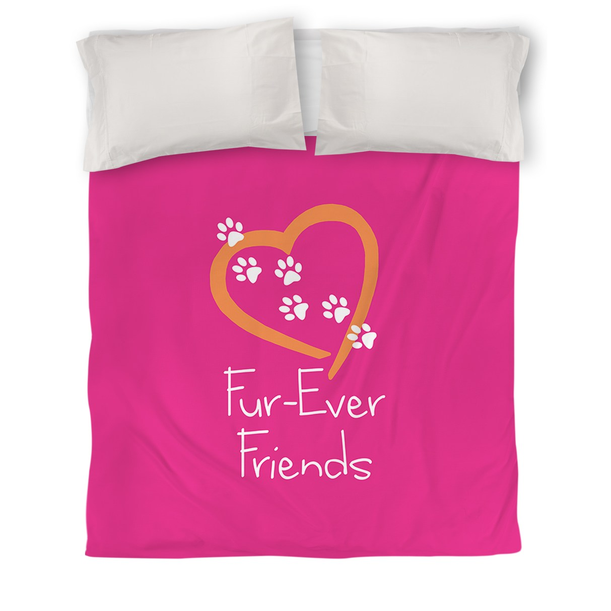 IDG Forever Friends Duvet Cover, Pink