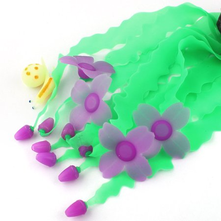 Fish Tank Silicone Flower Head Decor Artificial Aquascaping Seaweed Coral Purple - image 1 of 2