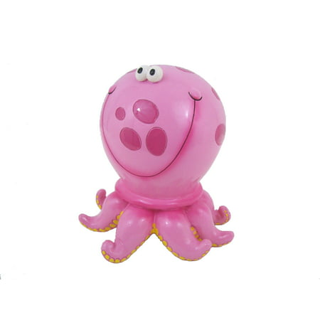 Pink Polka Dot Octopus Savings Money Bank Piggy