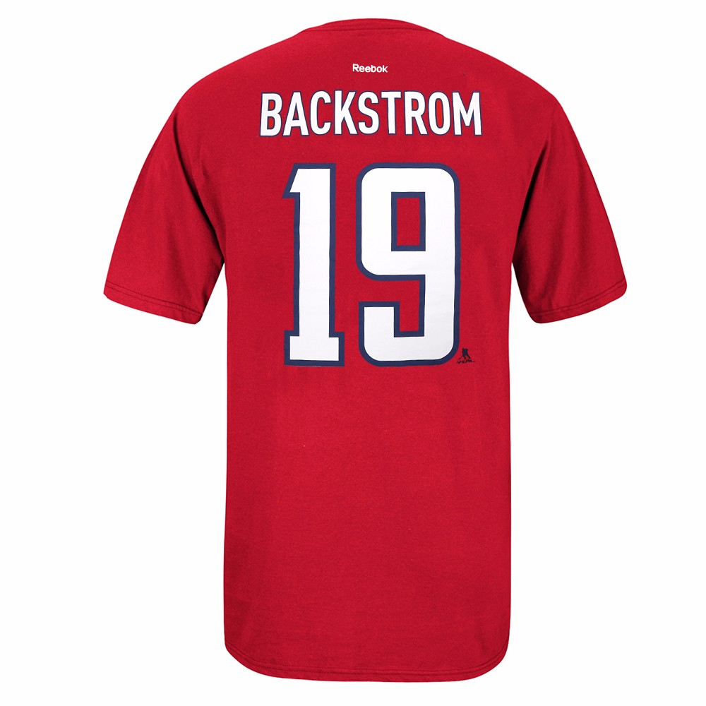 Nicklas Backstrom Washington Capitals NHL Reebok Men's Red Stanley Cup Playoffs Name & Number Jersey T-Shirt