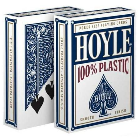 1 Deck Hoyle 100% Plastic Standard Poker Playing Cards Blue Brand New Deck Hoyle Poker Deck