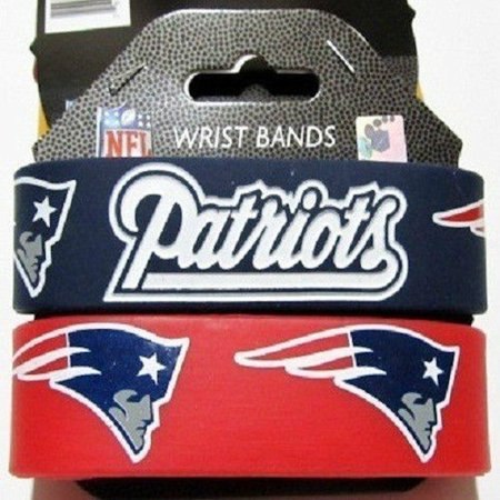 NFL Football Silicone Rubber Wrist Band Two Bracelets Choose Your (Rubber Wrist Band)