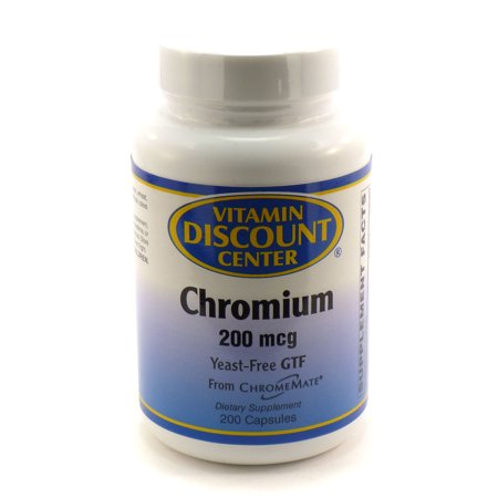 Chrome 200 mcg par ChromeMate Vitamin Discount Center - 200 Capsules
