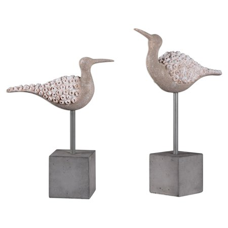 Uttermost Shore Birds Sculpture - Set of 2