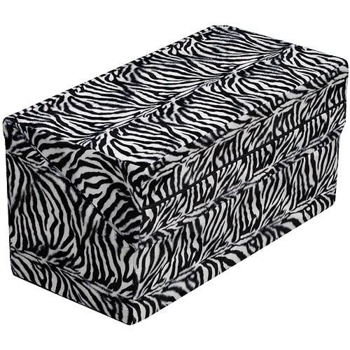 "HealthSmart Foldable Pattern Bed Wedge, Zebra, 24"" x 24"" x 12"""