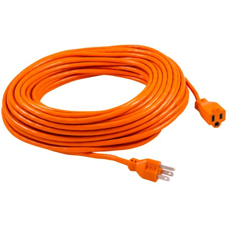 GE Indoor/Outdoor 100ft. Grounded Heavy Duty Extension Cord, Orange, 51923