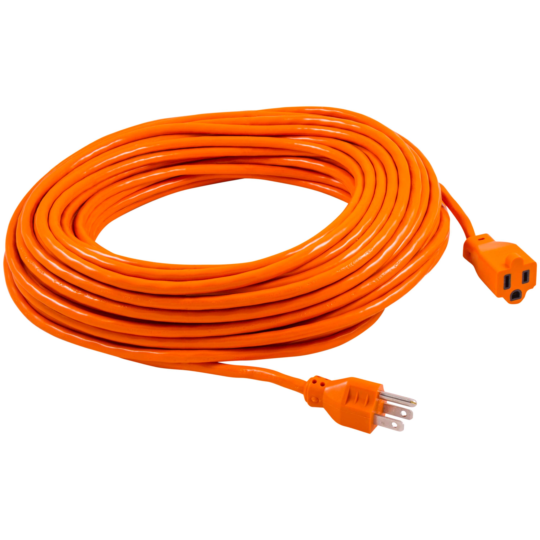 GE Indoor/Outdoor 100ft. Grounded Heavy Duty Extension Cord, Orange, 51923