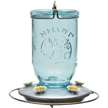 (Perky-Pet Mason Jar Glass Hummingbird Feeder)